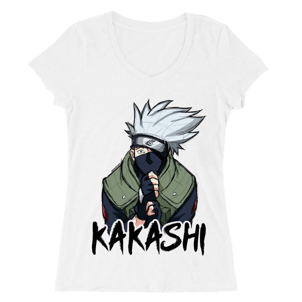 Kakashi graphic Női V-nyakú Póló