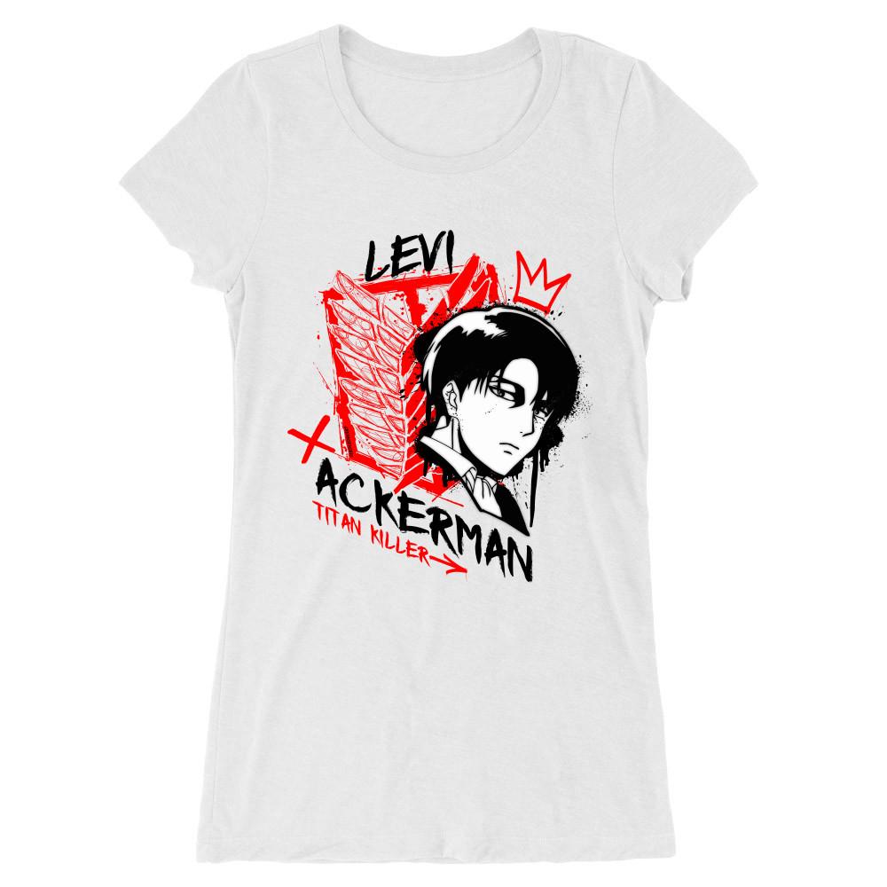 Levi Ackerman - Titan Killer Női Hosszított Póló