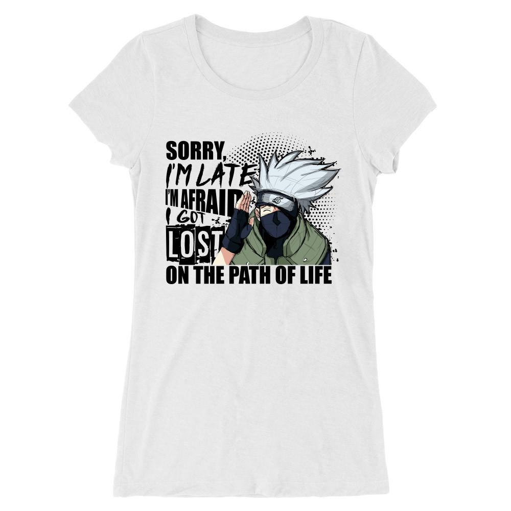 Sorry I'm late - Kakashi Női Hosszított Póló