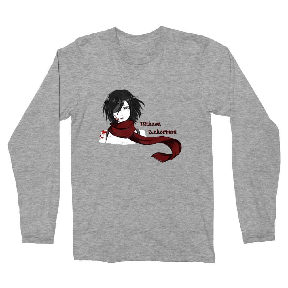 Mikasa Ackerman Férfi Hosszúujjú Póló