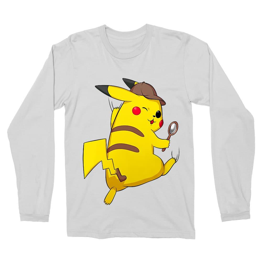 Detetktív Pikachu Férfi Hosszúujjú Póló
