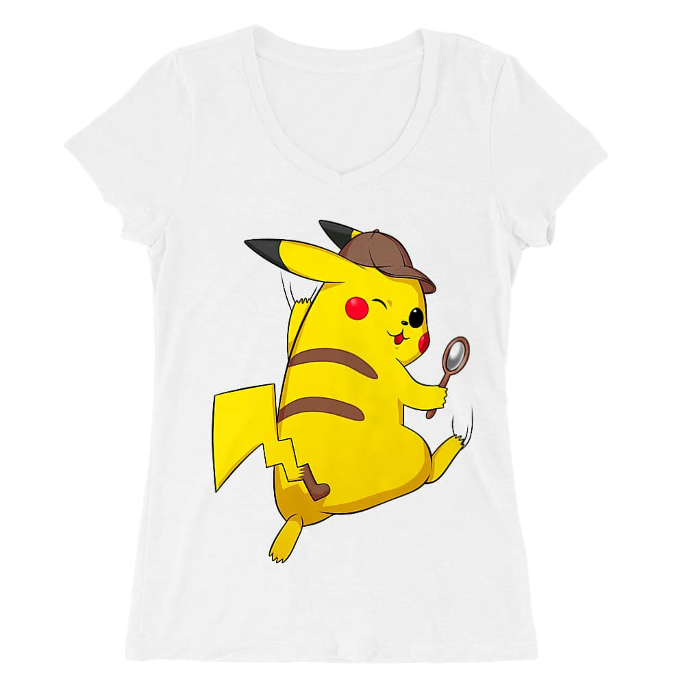 Detetktív Pikachu Női V-nyakú Póló