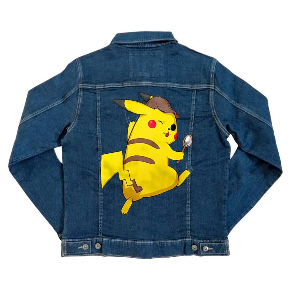 Detetktív Pikachu Unisex Farmerkabát