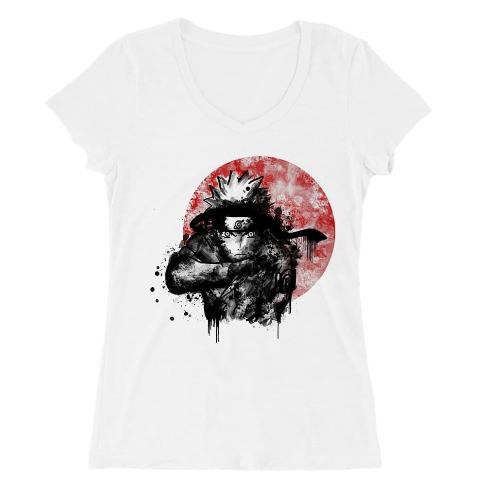 Naruto moon Női V-nyakú Póló