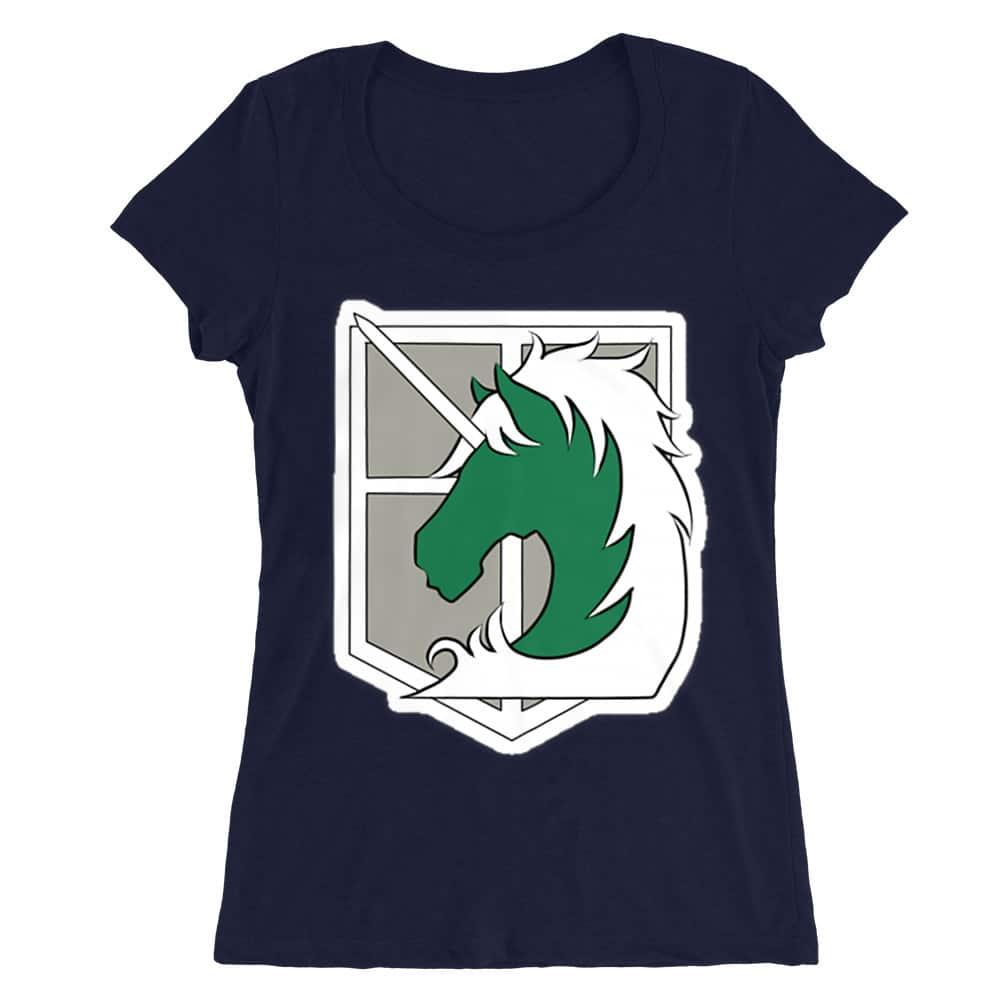 Millitary police logo Női O-nyakú Póló
