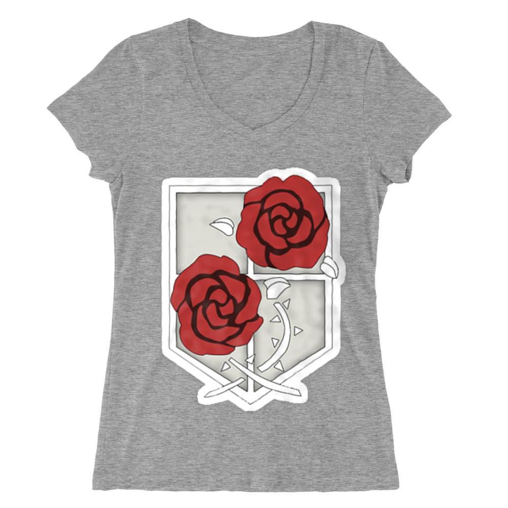 Garrison logo Női V-nyakú Póló