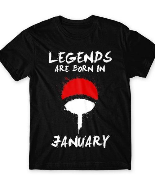 Uchiha Legends January Póló - Naruto