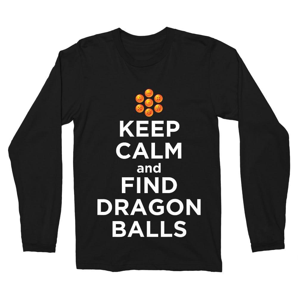 Keep Calm and find Dragon Balls Férfi Hosszúujjú Póló