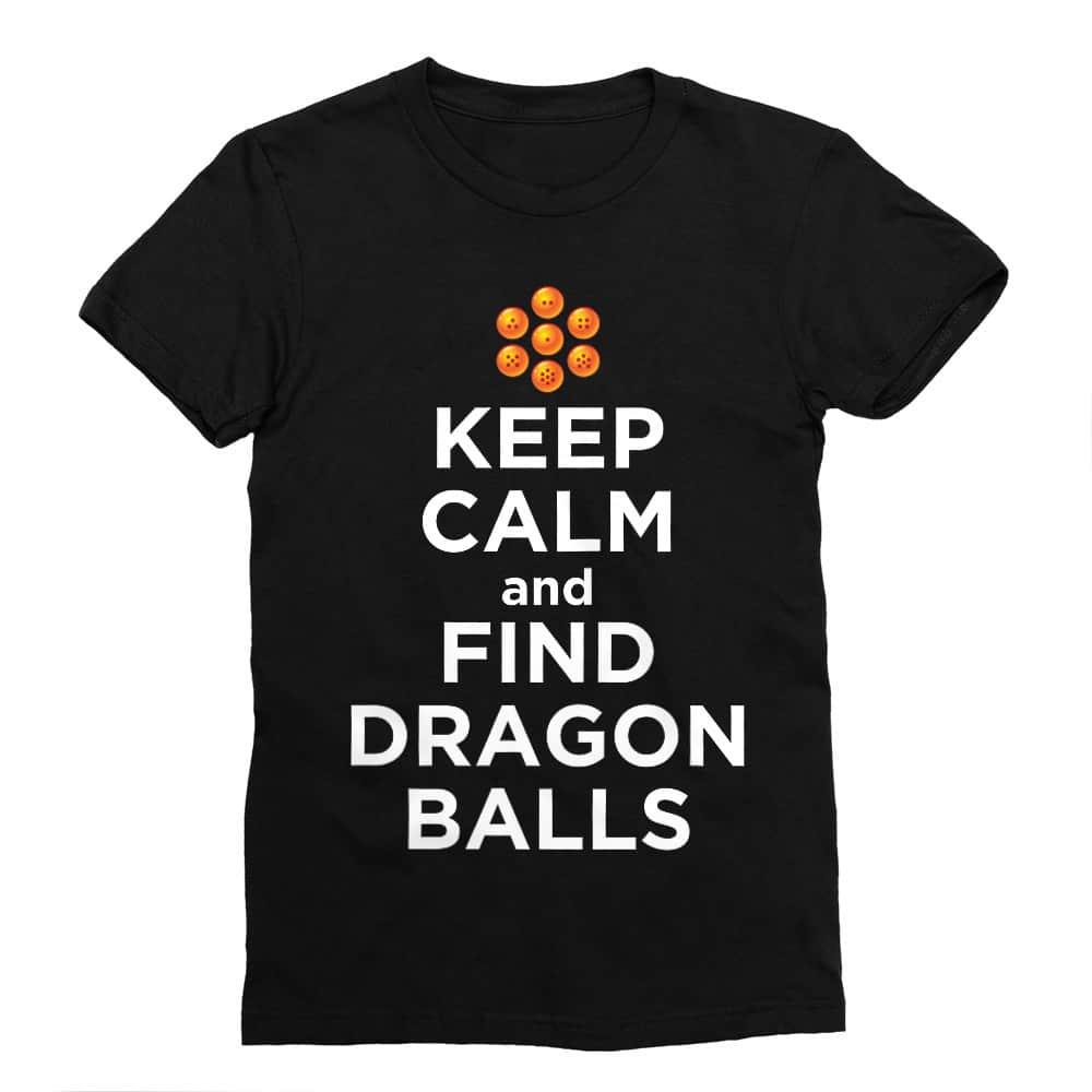 Keep Calm and find Dragon Balls Férfi Testhezálló Póló