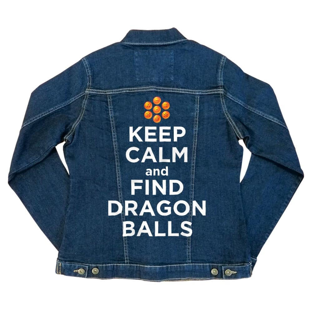 Keep Calm and find Dragon Balls Női Farmerkabát