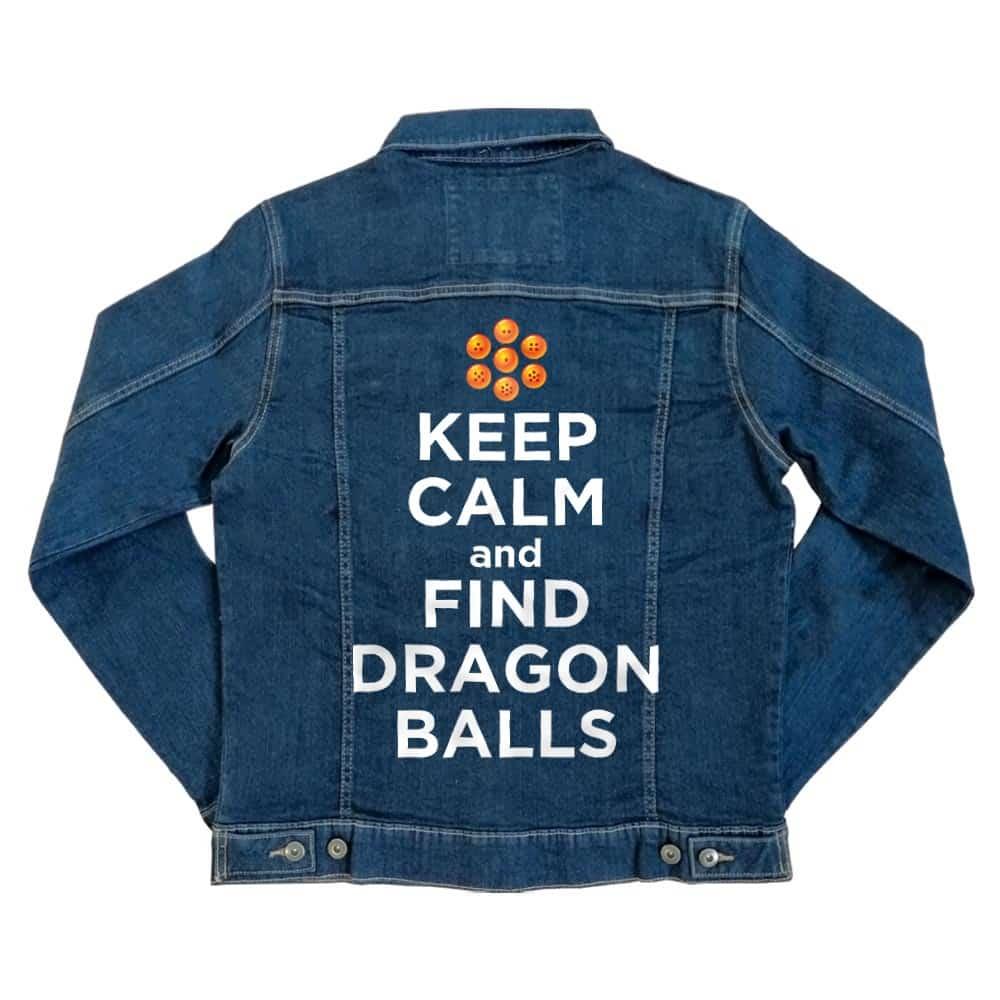 Keep Calm and find Dragon Balls Unisex Farmerkabát