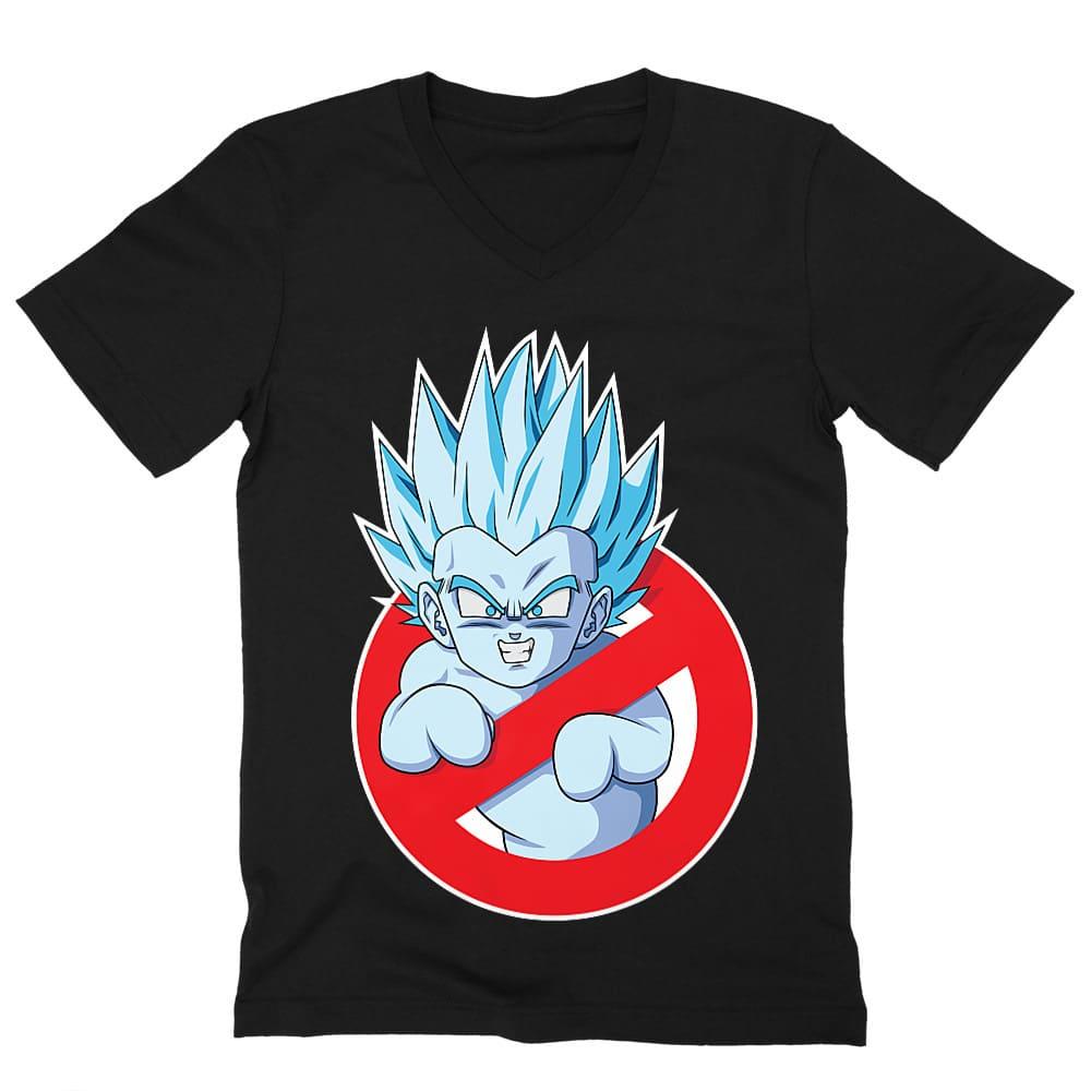 Ghostbusters DragonBall Férfi V-nyakú Póló