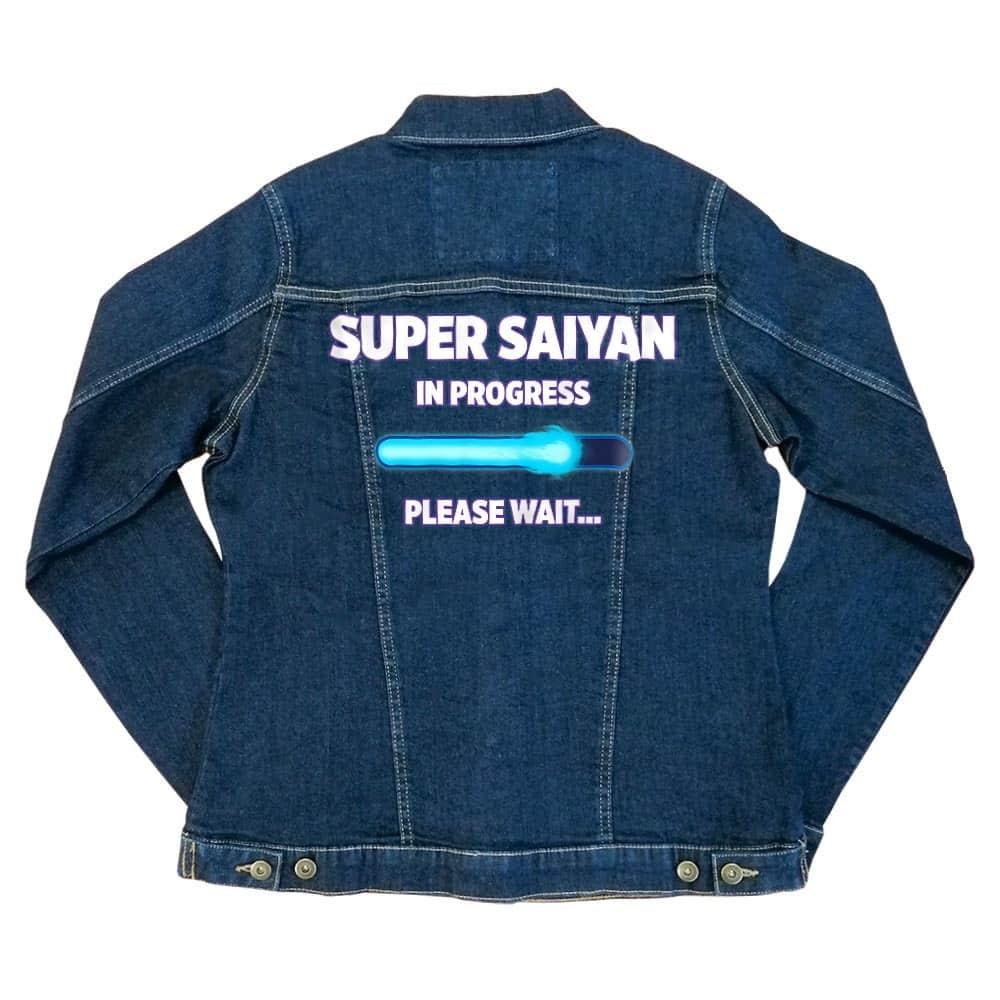 Super Saiyan in progress Női Farmerkabát