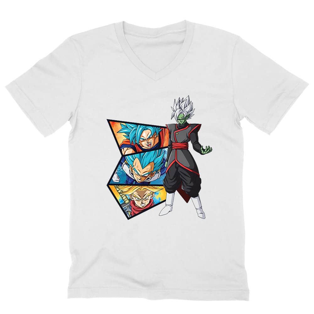 Dragon Ball Super Férfi V-nyakú Póló